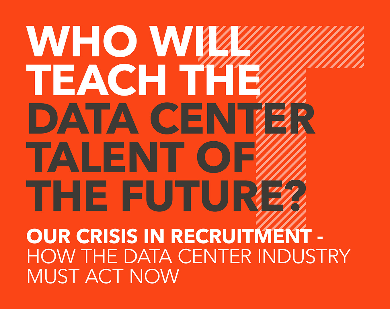 Who will teach the data center talent of the future?
